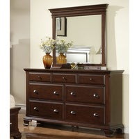 Shop Louis Philippe Traditional Warm Brown 5-piece Bedroom Set - On ...