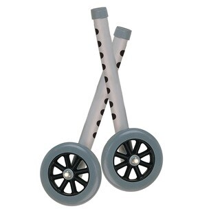 Drive Medical Extended Height 5-inch Walker Wheels and Legs Combo Pack (Set of 2)