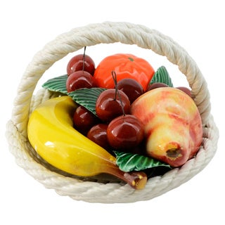 Round Fruit Basket Centerpiece