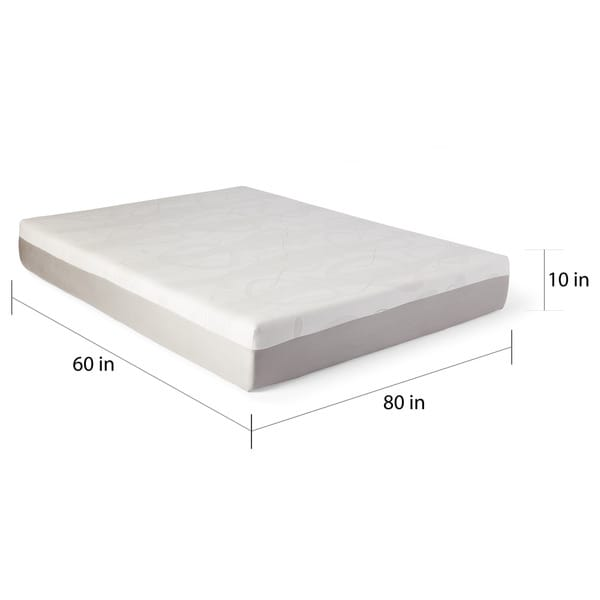 slumber solutions choose your comfort 10inch kingsize gel memory foam mattress free shipping today