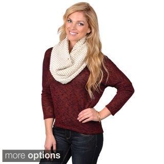 Calvin Klein Women's Two-tone Wool Blend Neckwarmer