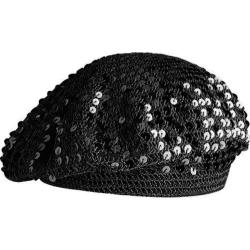 Women's Betmar Sequin Beret Black