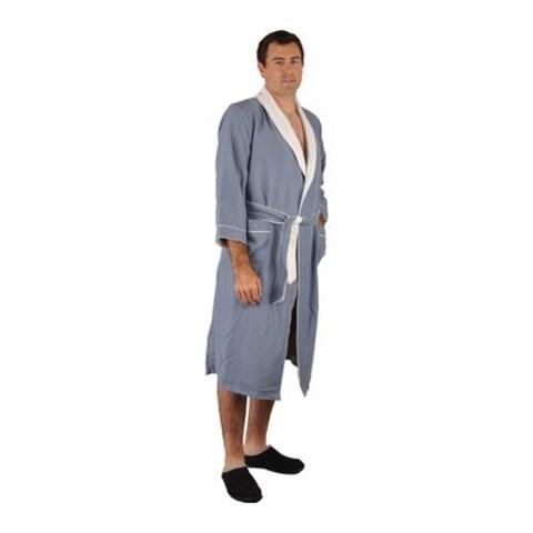 Chadsworth & Haig Microplush Robe- 5XL Size Periwinkle