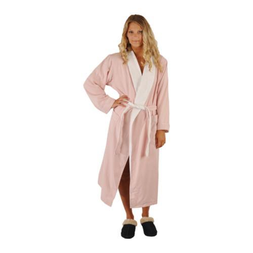Chadsworth & Haig Ultimate Doeskin Robe Pink/White