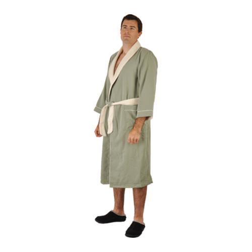 051780ff83 Shop Chadsworth   Haig Ultimate Doeskin Robe Seafoam Eggshell - On Sale -  Free Shipping Today - Overstock.com - 9698914