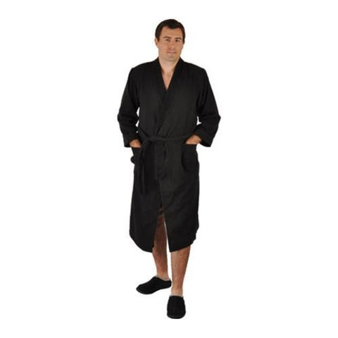 Chadsworth & Haig Ultimate Doeskin Robe- 5XL Size Black/Black