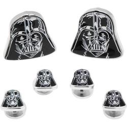 Men's Cufflinks Inc Darth Vader Head Stud Set Black