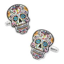 Men's Cufflinks Inc Day of the Dead Skull Cufflinks Multi