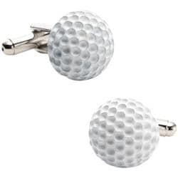 Men's Cufflinks Inc Enamel Golf Ball Cufflinks Silver