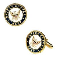 Men's Cufflinks Inc Enamel US Navy Cufflinks Multi