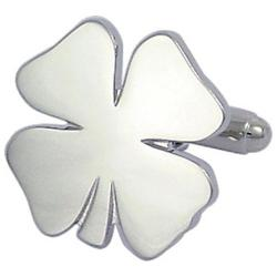 Men's Cufflinks Inc Four Leaf Clover Silver