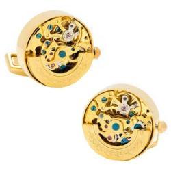 Men's Cufflinks Inc Kinetic Watch Movement Cufflinks Gold/Gold