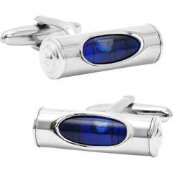 Men's Cufflinks Inc Level Cufflinks Blue/Silver