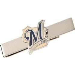 Men's Cufflinks Inc Milwaukee Brewers Cufflinks and Tie Bar Gift Set Purple