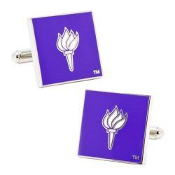 Men's Cufflinks Inc NYU Bobcats Cufflinks Purple