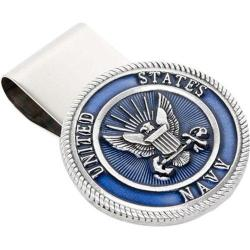Men's Cufflinks Inc Pewter U.S. Navy Money Clip Pewter
