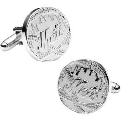 Men's Cufflinks Inc Silver Edition NY Mets Cufflinks Silver