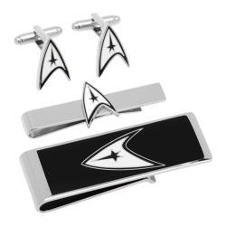 Men's Cufflinks Inc Star Trek Delta Shield 3-Piece Gift Set Black