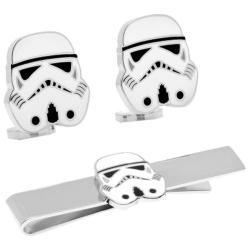 Men's Cufflinks Inc Stormtrooper Cufflinks and Tie Bar Gift Set Black