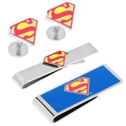 Men's Cufflinks Inc Superman 3-Piece Gift Set Red