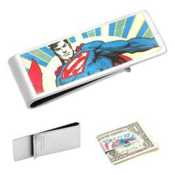 Men's Cufflinks Inc Vintage Superman Money Clip Blue