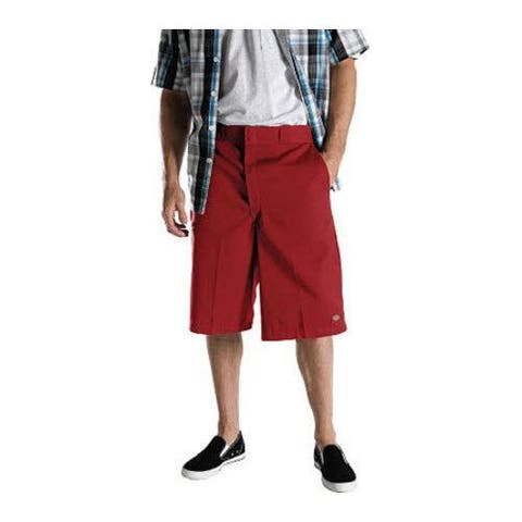 Men's Dickies 13-inch Loose Fit Stripe Multi-Pocket Work Short English Red