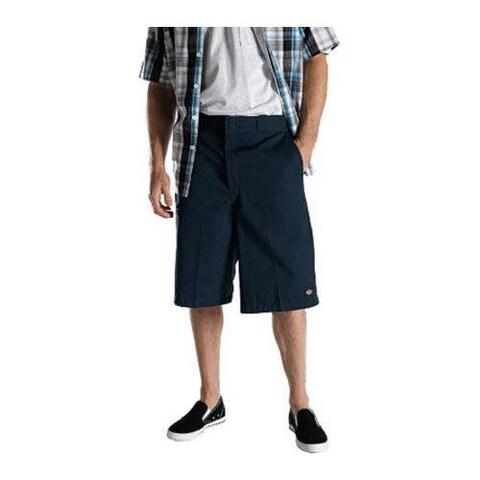 Men's Dickies 13in Loose Fit Twill Stripe Multi-Pocket Work Short Navy