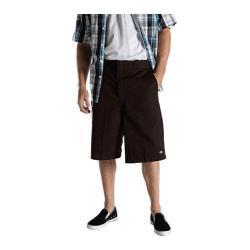 Men's Dickies 13in Loose Fit Twill Stripe Multi-Pocket Work Short Dark Brown
