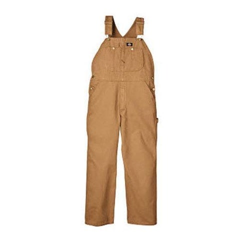Men's Dickies Bib Overall 30in Inseam Brown Duck
