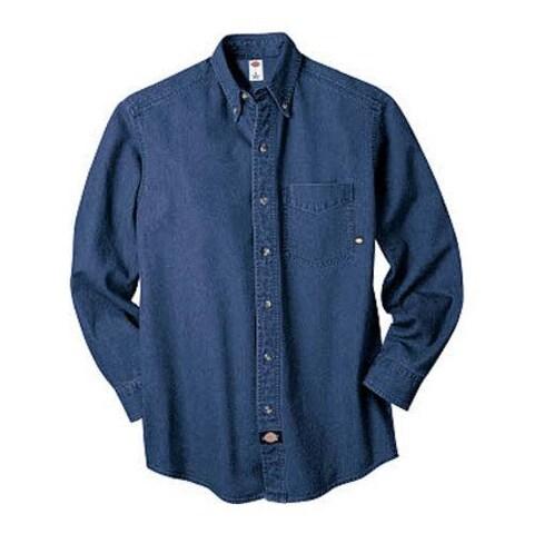 Men's Dickies Long Sleeve Denim Work Shirt Navy