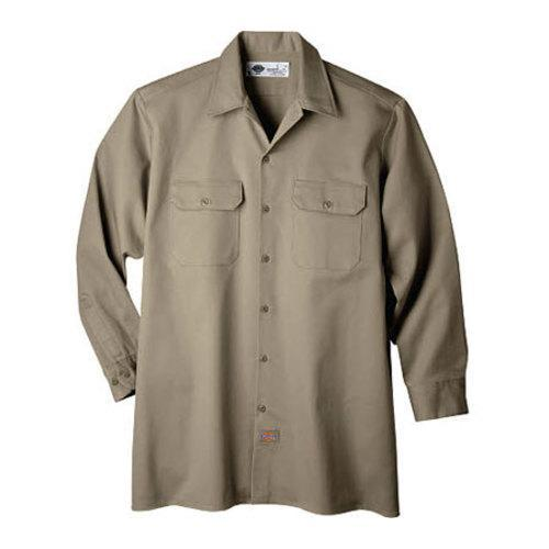 4b0bcd85b7b5 Shop Men's Dickies Long Sleeve Heavyweight Cotton Work Shirt Tall Khaki -  On Sale - Free Shipping On Orders Over $45 - Overstock - 9701476