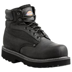 Dickies Men's Boots Breaker Work Steel Toe Black Waterproof Full Grain Leather