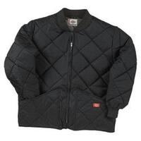 Men's Dickies Diamond Quilted Nylon Jacket Black
