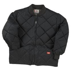 Men's Dickies Diamond Quilted Nylon Jacket Black