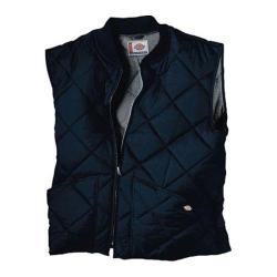 Men's Dickies Diamond Quilted Nylon Vest Dark Navy