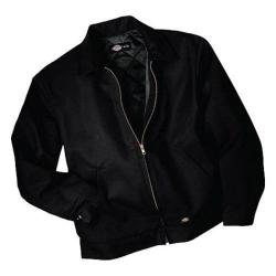 Men's Dickies Insulated Eisenhower Jacket Long Black
