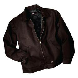 Men's Dickies Insulated Eisenhower Jacket Long Dark Brown