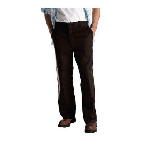 Men's Dickies Loose Fit Double Knee Work Pant 32in Inseam Dark Brown