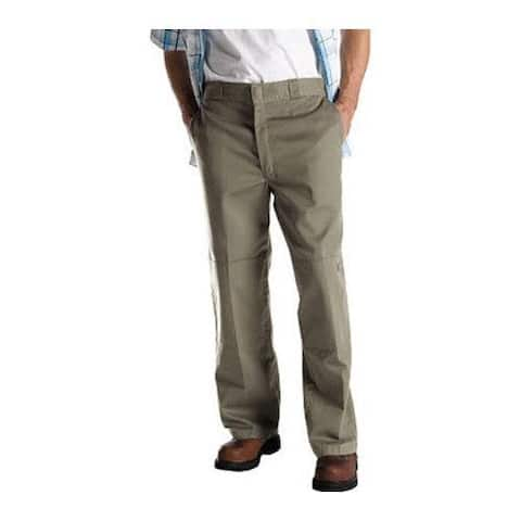 Men's Dickies Loose Fit Double Knee Work Pant 32in Inseam Khaki