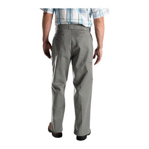 Men's Dickies Loose Fit Double Knee Work Pant 32in Inseam Silver Grey