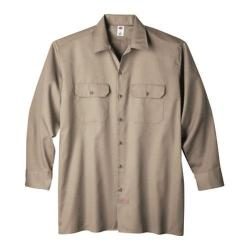 Men's Dickies Long Sleeve Work Shirt Tall Khaki