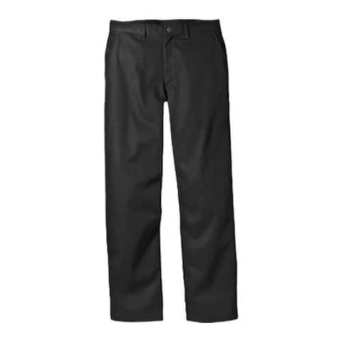 Men's Dickies Relaxed Fit Cotton Flat Front Pant 32in Inseam Black