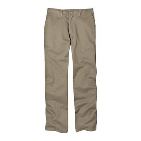 Men's Dickies Relaxed Fit Cotton Flat Front Pant 32in Inseam Khaki