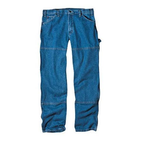 Men's Dickies Relaxed Fit Double Knee Carpenter Jean 30in Inseam Stone Wash Blue