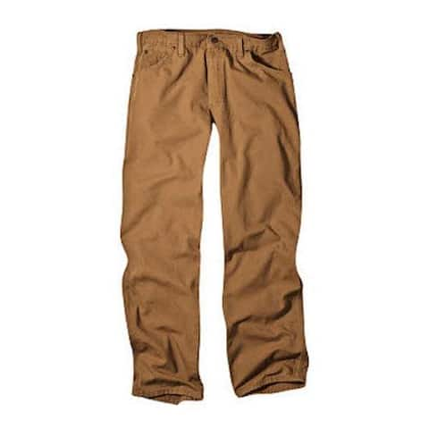 Men's Dickies Relaxed Fit Duck Jean 34in Inseam Brown Duck