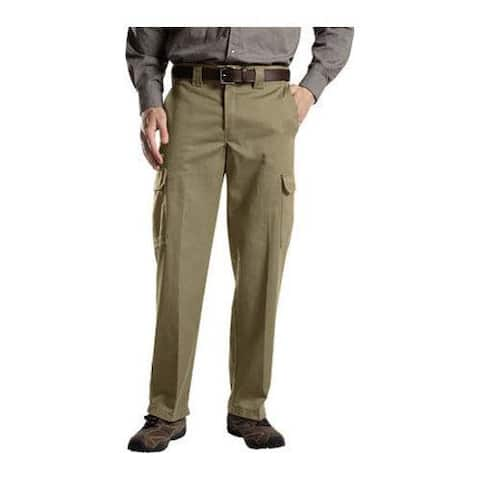 Men's Dickies Relaxed Straight Fit Cargo Work Pant 34in Inseam Desert Sand