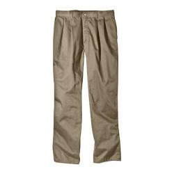 Men's Dickies Relaxed Fit Cotton Pleated Front Pant 32in Inseam Khaki