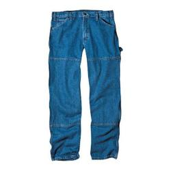 Men's Dickies Relaxed Fit Double Knee Carpenter Jean 32in Inseam Stone Wash Blue