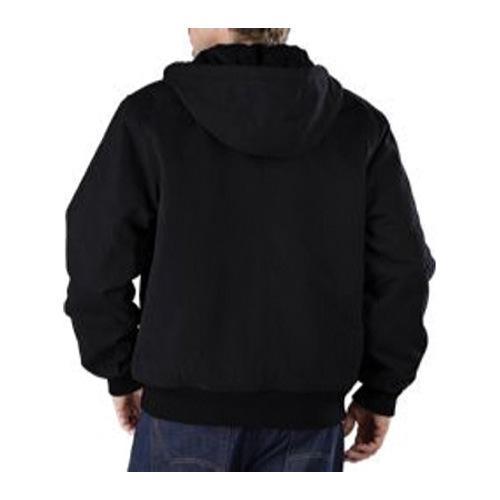 Men's Dickies Sanded Duck Hooded Jacket Black - Thumbnail 1