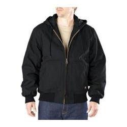 Men's Dickies Sanded Duck Hooded Jacket Black - Thumbnail 0